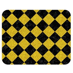 Square2 Black Marble & Yellow Denim Double Sided Flano Blanket (medium)  by trendistuff