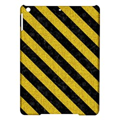 Stripes3 Black Marble & Yellow Denim Ipad Air Hardshell Cases by trendistuff