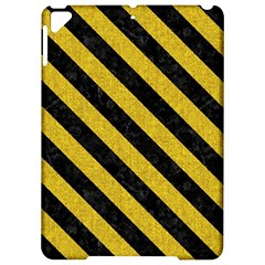 Stripes3 Black Marble & Yellow Denim Apple Ipad Pro 9 7   Hardshell Case by trendistuff