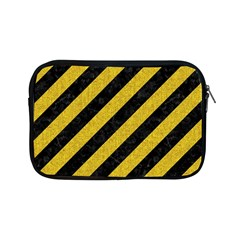 Stripes3 Black Marble & Yellow Denim (r) Apple Ipad Mini Zipper Cases by trendistuff