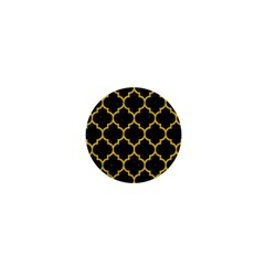 Tile1 Black Marble & Yellow Denim (r) 1  Mini Buttons by trendistuff
