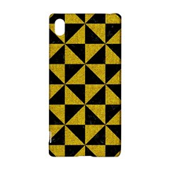 Triangle1 Black Marble & Yellow Denim Sony Xperia Z3+ by trendistuff