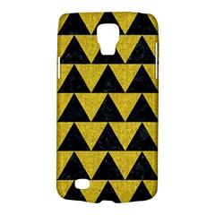 Triangle2 Black Marble & Yellow Denim Galaxy S4 Active by trendistuff