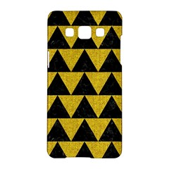Triangle2 Black Marble & Yellow Denim Samsung Galaxy A5 Hardshell Case  by trendistuff