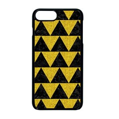 Triangle2 Black Marble & Yellow Denim Apple Iphone 8 Plus Seamless Case (black) by trendistuff