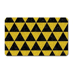 Triangle3 Black Marble & Yellow Denim Magnet (rectangular) by trendistuff