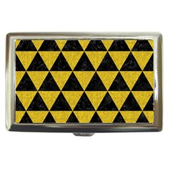 Triangle3 Black Marble & Yellow Denim Cigarette Money Cases by trendistuff
