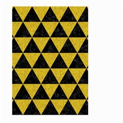 Triangle3 Black Marble & Yellow Denim Large Garden Flag (two Sides) by trendistuff