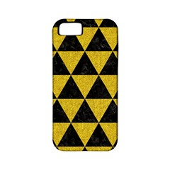 Triangle3 Black Marble & Yellow Denim Apple Iphone 5 Classic Hardshell Case (pc+silicone) by trendistuff