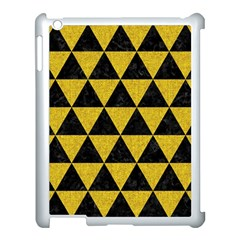 Triangle3 Black Marble & Yellow Denim Apple Ipad 3/4 Case (white) by trendistuff