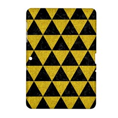 Triangle3 Black Marble & Yellow Denim Samsung Galaxy Tab 2 (10 1 ) P5100 Hardshell Case  by trendistuff