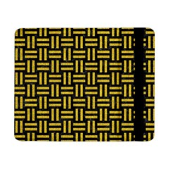 Woven1 Black Marble & Yellow Denim (r) Samsung Galaxy Tab Pro 8 4  Flip Case by trendistuff