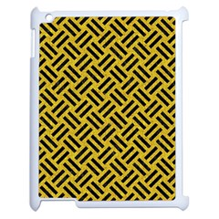 Woven2 Black Marble & Yellow Denim Apple Ipad 2 Case (white) by trendistuff