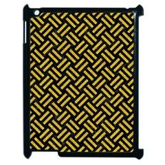 Woven2 Black Marble & Yellow Denim (r) Apple Ipad 2 Case (black) by trendistuff