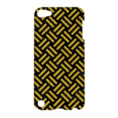 Woven2 Black Marble & Yellow Denim (r) Apple Ipod Touch 5 Hardshell Case by trendistuff