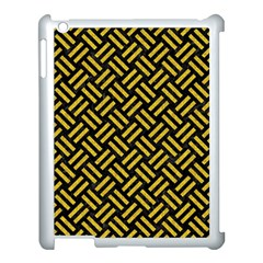 Woven2 Black Marble & Yellow Denim (r) Apple Ipad 3/4 Case (white) by trendistuff