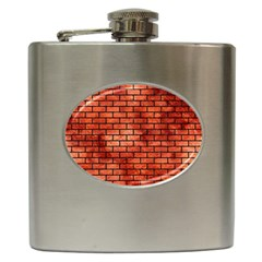 Brick1 Black Marble & Copper Paint Hip Flask (6 Oz) by trendistuff