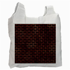 Brick1 Black Marble & Copper Paint (r) Recycle Bag (two Side)  by trendistuff