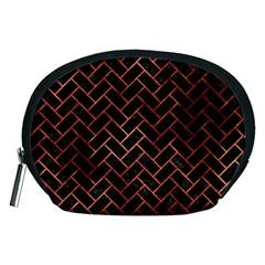 Brick2 Black Marble & Copper Paint (r) Accessory Pouches (medium)  by trendistuff