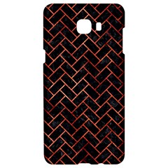 Brick2 Black Marble & Copper Paint (r) Samsung C9 Pro Hardshell Case  by trendistuff