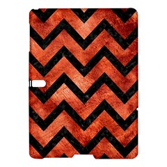 Chevron9 Black Marble & Copper Paint Samsung Galaxy Tab S (10 5 ) Hardshell Case