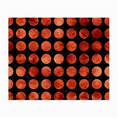 Circles1 Black Marble & Copper Paint (r) Small Glasses Cloth by trendistuff