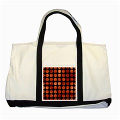 Circles1 Black Marble & Copper Paint (r) Two Tone Tote Bag by trendistuff
