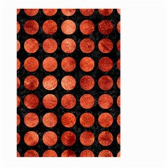 Circles1 Black Marble & Copper Paint (r) Large Garden Flag (two Sides) by trendistuff
