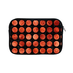 Circles1 Black Marble & Copper Paint (r) Apple Ipad Mini Zipper Cases by trendistuff