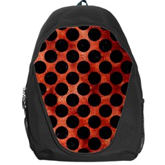 Circles2 Black Marble & Copper Paint Backpack Bag by trendistuff