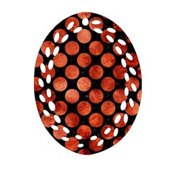Circles2 Black Marble & Copper Paint (r) Oval Filigree Ornament (two Sides) by trendistuff