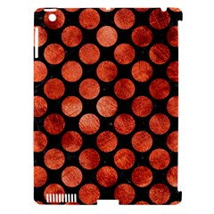 Circles2 Black Marble & Copper Paint (r) Apple Ipad 3/4 Hardshell Case (compatible With Smart Cover) by trendistuff