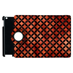Circles3 Black Marble & Copper Paint Apple Ipad 2 Flip 360 Case by trendistuff
