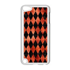 Diamond1 Black Marble & Copper Paint Apple Ipod Touch 5 Case (white) by trendistuff