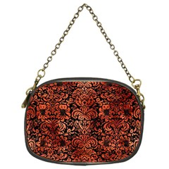 Damask2 Black Marble & Copper Paint (r) Chain Purses (two Sides)  by trendistuff