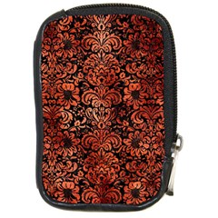 Damask2 Black Marble & Copper Paint (r) Compact Camera Cases by trendistuff
