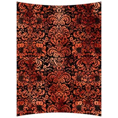 Damask2 Black Marble & Copper Paint (r) Back Support Cushion by trendistuff