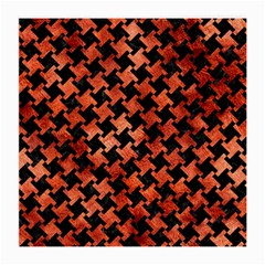 Houndstooth2 Black Marble & Copper Paint Medium Glasses Cloth by trendistuff