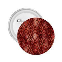 Hexagon1 Black Marble & Copper Paint 2 25  Buttons by trendistuff
