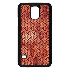 Hexagon1 Black Marble & Copper Paint Samsung Galaxy S5 Case (black) by trendistuff