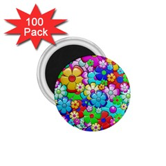 Flowers Ornament Decoration 1 75  Magnets (100 Pack)  by Celenk