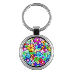 Flowers Ornament Decoration Key Chains (round)  by Celenk