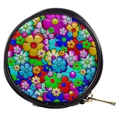 Flowers Ornament Decoration Mini Makeup Bags by Celenk