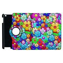 Flowers Ornament Decoration Apple Ipad 2 Flip 360 Case