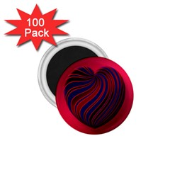 Heart Love Luck Abstract 1 75  Magnets (100 Pack)  by Celenk