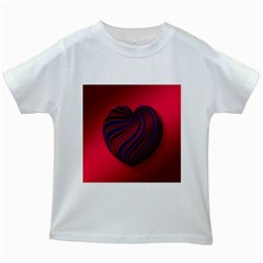 Heart Love Luck Abstract Kids White T Shirts