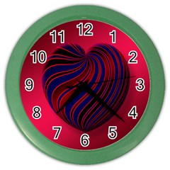Heart Love Luck Abstract Color Wall Clocks
