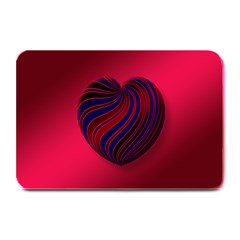Heart Love Luck Abstract Plate Mats