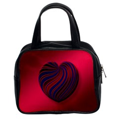 Heart Love Luck Abstract Classic Handbags (2 Sides) by Celenk