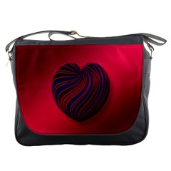 Heart Love Luck Abstract Messenger Bags